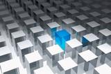 3d cube cluster - 177438807