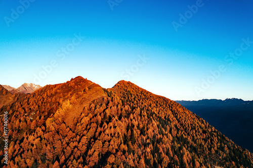 Golden hour - Aerial view Poster