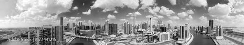 Papiers peints Dubai Downtown Dubai aerial view at sunset