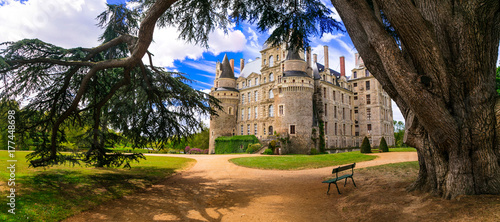 Fotobehang Freesurf One of the most beautiful and mysterious castles of France - Chateau de Brissac ,Loire valley