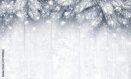 Christmas  Silver background - 177449864