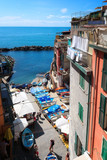 Riomaggiore, Italy - The small port view from above. - 177451099