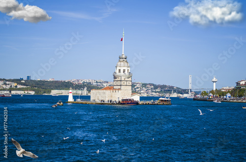 the maiden's tower in istanbul turkey Poster