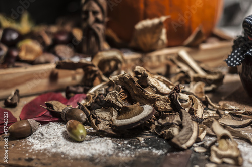 Fotobehang Herfst Autumn still life scenery concept of making food for winter