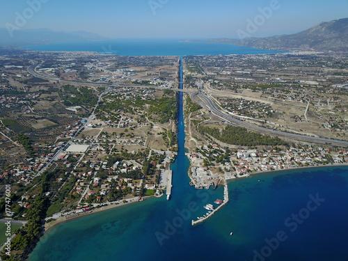 Fotobehang Grijs Korinth Kanal
