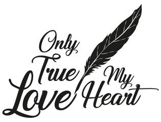 Illustration Vector Only True Love