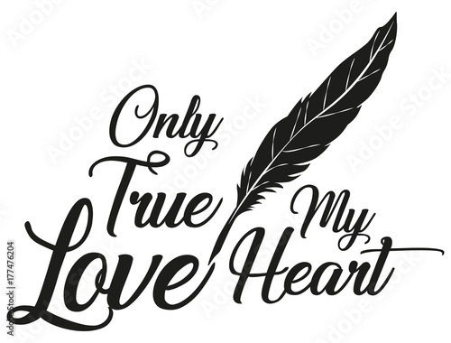 Illustration Vector Only True Love