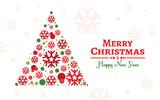 Christmas tree background vector design.