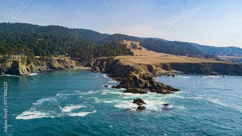 Fotobehang Groen blauw California coast
