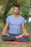 man and yoga - 177486612