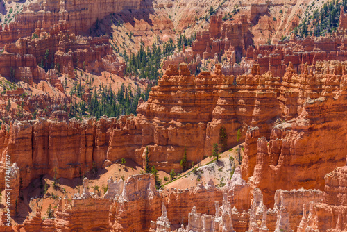 Aluminium Rood traf. Beautiful view of Bryce Canyon at Sunrise Point, Bryce Canyon National Park, Utah, United States