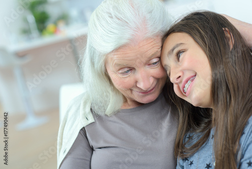 Poster grandmother and granddaughter together