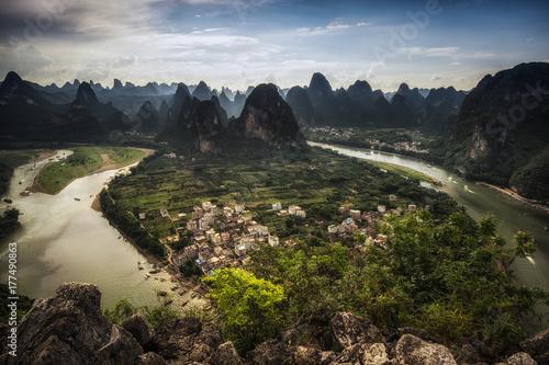 Fotobehang Guilin Laozhai mountain viewpoint