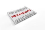 Neighbors on Newspaper background - 177500064