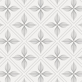 linear vector pattern, repeating abstract flower leaves with linear diamond shape, graphic clean design for fabric, event, wallpaper etc. pattern is on swatches panel.