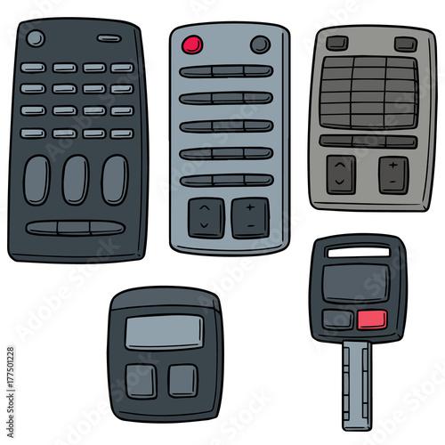 Fotobehang Auto vector set of remote control