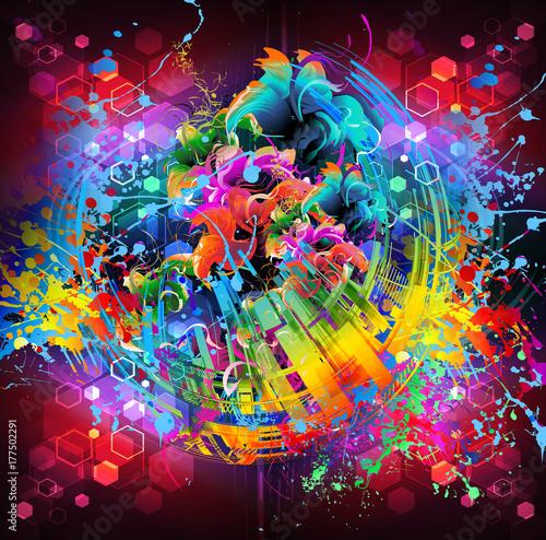 Fotobehang Reznik абстрактный магический цветной фон
