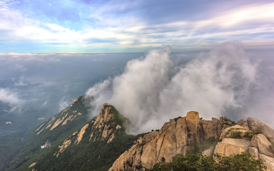 Misty in Bukansan National park,South Korea.