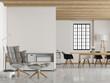 Modernes Loft mit weißer Wand