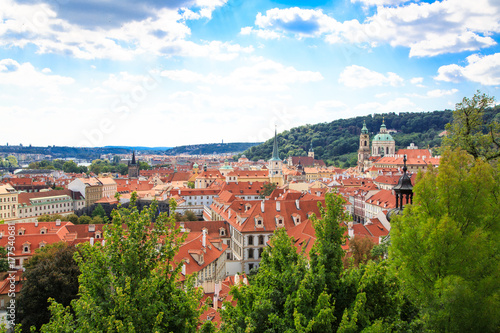 Panorama of Prague old town, Czech Republic Poster