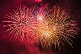 Colorful fireworks of traditional Santa Augusta celebration, Vittorio Veneto, Italy - 177547258