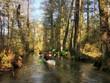 Leinwanddruck Bild - Paddeltour im Spreewald