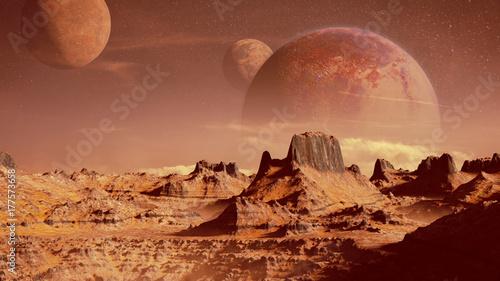 Papiers peints Saumon scenic alien planet landscape