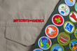 Boy Scout uniform and sash
