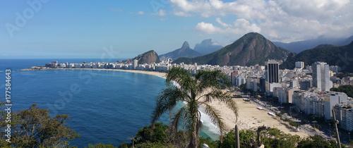 Aluminium Rio de Janeiro Panoramic view of Copacabana Rio de Janeiro Brazil
