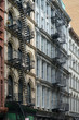 New York, old apartment buildings with external fire escape