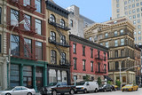 New York street with old buildings in Soho or Tribeca