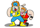 funny wrestling characters - 177589872