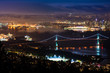 Nighttime View of Lions Gate Bridge from Cypress Mountain