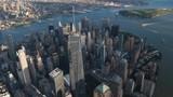 Aerial shot of Manhattan New York City USA - 177592495