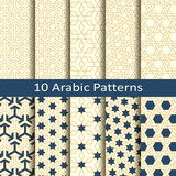 set of ten seamless vector arabic traditional mosaic geometric patterns. design for covers, packaging, textile - 177594449