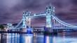 London, the United Kingdom: Tower Bridge on River Thames at night - 177598878
