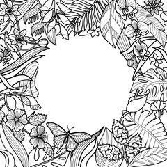 Tropical Round Frame