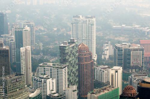 In de dag Milan Kuala Lumpur cityscape view, Malaysia