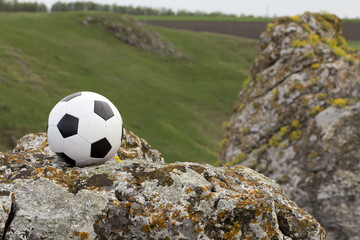 Football and the landscape.