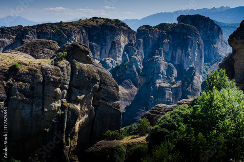 Meteora landscapes, monasteries, Greece Poster