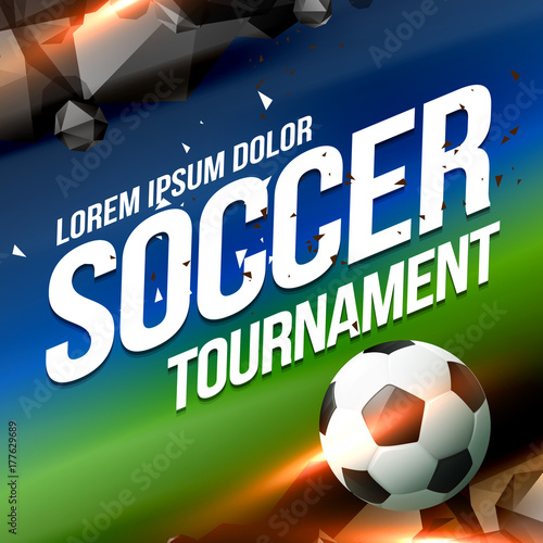 soccer tournament game poster flyer design background
