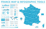 France Map - Info Graphic Vector Illustration - 177636853