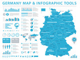 Germany Map - Info Graphic Vector Illustration