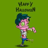Zombie. Happy Halloween - 177638409