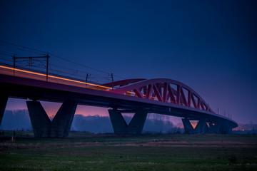Hanzelijn, railway bridge over the ijssel near Zwolle