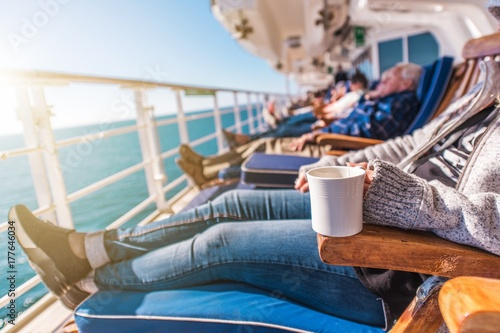 Plakat Deckchairs Cruise Ship Relax