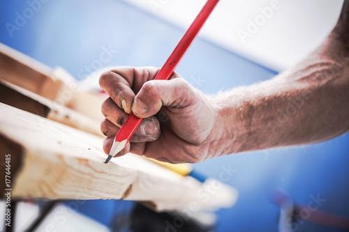 Passionate Carpenter at Work - 177646485