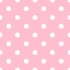Polka dot background. Circle seamless pattern.