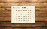 Calendar November 2018 - 177649487