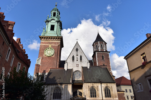 Classic view Krakow Cathedral, Wawel Hill, Kakow Poland